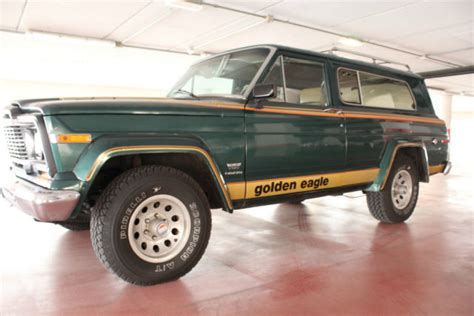 jeep cherokee 1980 cherokee golden eagle 4 2 6 cyl completely original