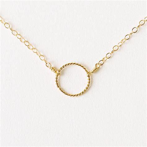 Necklace By delicate gold circle necklace by minetta jewellery notonthehighstreet