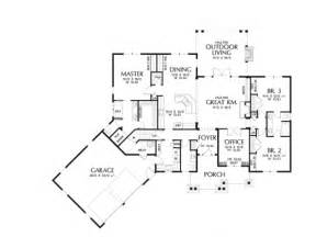 House Plans 2000 Square Feet One Level craftsman plan with 2233 square feet and 3 bedrooms from