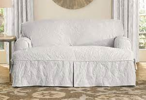 Sure Fit White Sofa Slipcover by Sure Fit Matelasse Damask One T Cushion Sofa