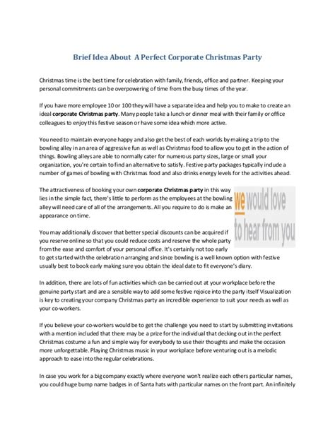 christmas party emcee script for school brief idea about a corporate