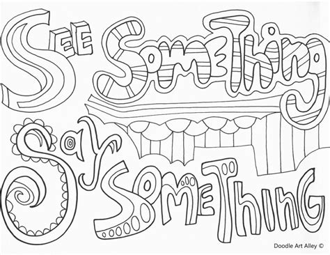 no bullying coloring pages printable no best free