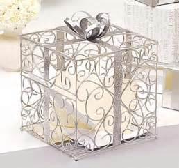 silver gift reception card holder wedding card boxes wedding essentials wedding favors