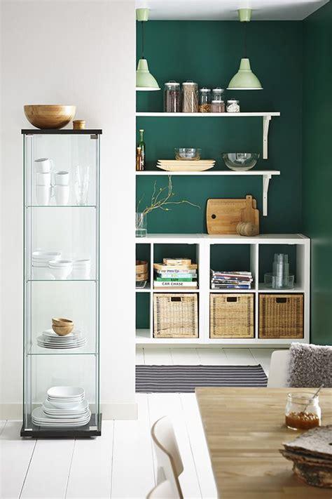 kitchens with shelves green kallax shelf unit birch effect ikea kallax shelf