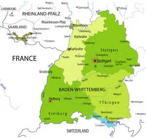 Baden Germany Map by Map Of Baden Wurtternberg In Germany