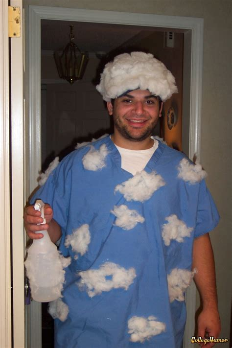 clever easy costumes for adults partly cloudy with a quot chance quot of lol what a costume gotta remember this for josh