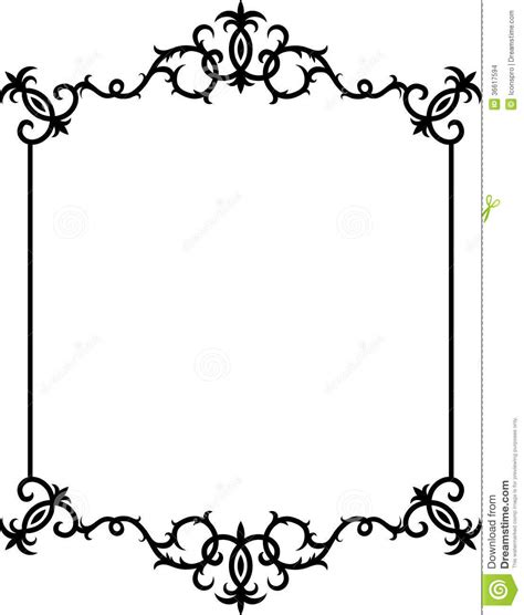 design frame pattern abstract black and white frame stock images image 36617594