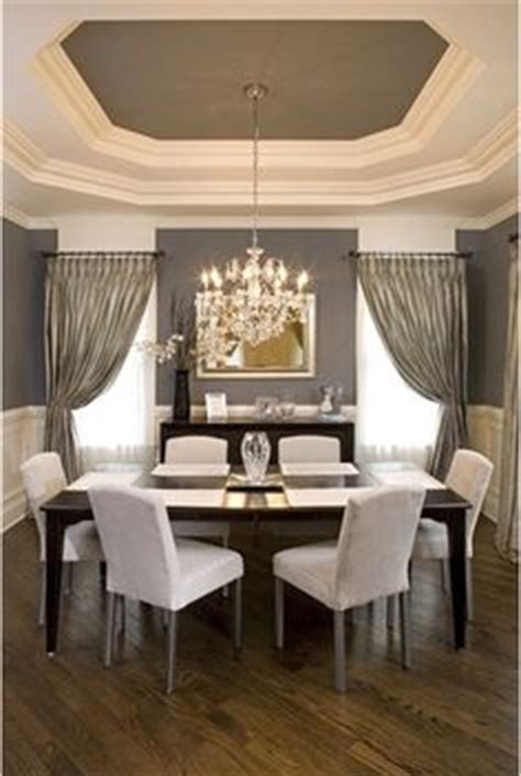 Gray Dining Room With Tray Ceiling Painted Tray Ceilings On Tray Ceilings Tray