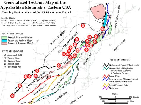 themes in appalachian literature generalized tectonic map of the appalachian mts eastern