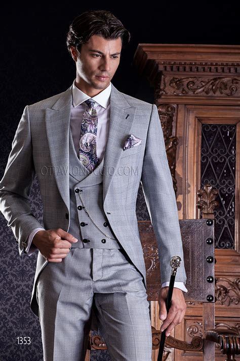 Tie For Light Grey Suit by Costume De Mariage Gris Clair Prince De Galles Gilet Crois 233
