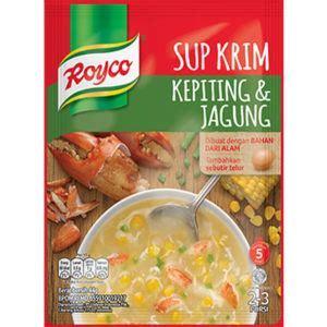 royco  krim kepiting  jagung masak  hari