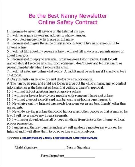 Babysitter Contract Template Sletemplatess Sletemplatess Babysitting Agreement Template