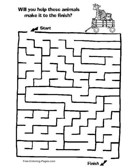 free printable christmas maze games kids maze coloring pages