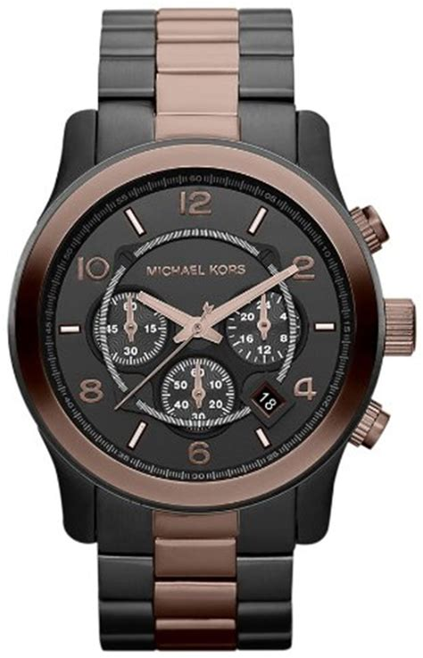 michael kors large runway two tone chronograph for