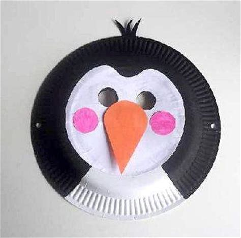 How To Make A Paper Plate Penguin - craft animal paper plate masks