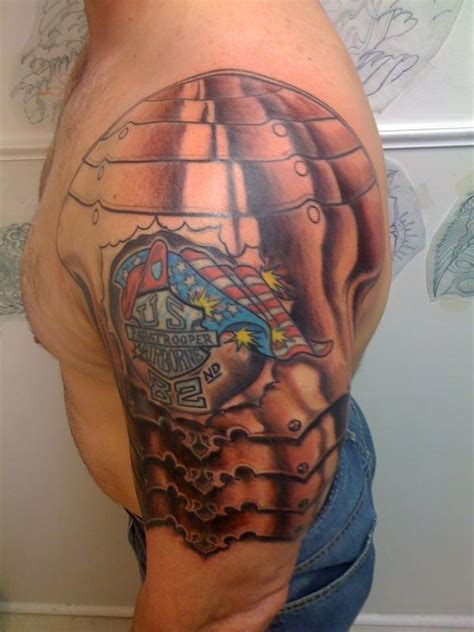 53 amazing armor shoulder tattoos