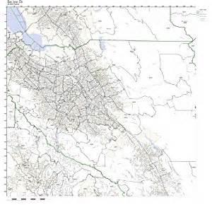 San Jose Zip Code Map by Amazon Com San Jose Ca Zip Code Map Not Laminated Home