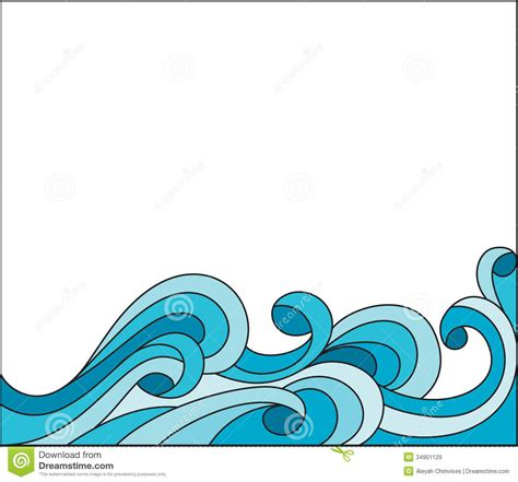 clipart waves wave royalty free stock images filigree