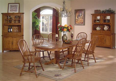 Oak Dining Room Table Chairs E C I Furniture Solid Oak Dining Solid Oak Dining Table Arrowback Chair Set Dunk Bright