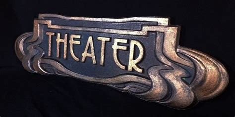 antique theater style art deco home theater room decor