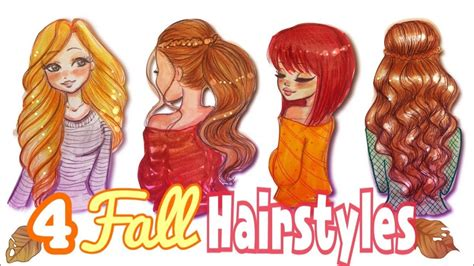 HOW TO DRAW 4 FALL HAIRSTYLES    ?#FALLSERIES 2017??   YouTube