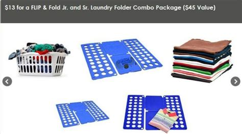 Flipfold Laundry Anak Best Buy team buy canada 13 for a flip fold jr and sr laundry folder combo package 45 value exp