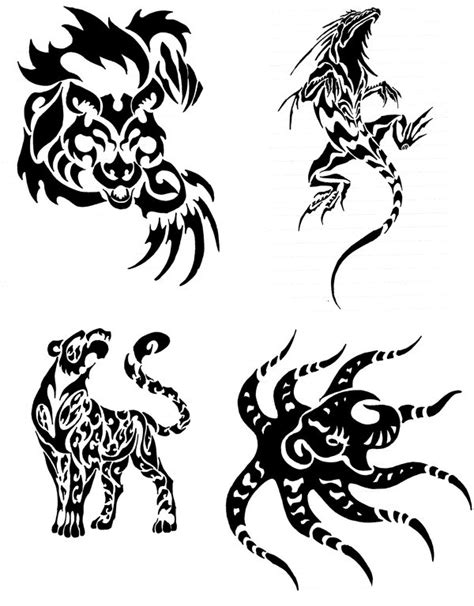 tattoo animal drawings animal tribal tattoos by canyx on deviantart