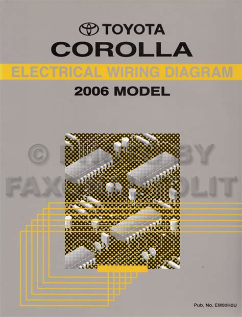 2006 toyota corolla wiring diagram manual original