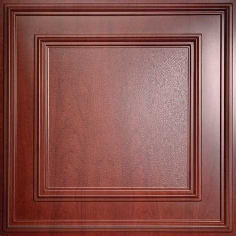 Faux Wood Ceiling Tiles Ceilume Cambridge Faux Wood Cherry 2 Ft X 2 Ft Lay In Or