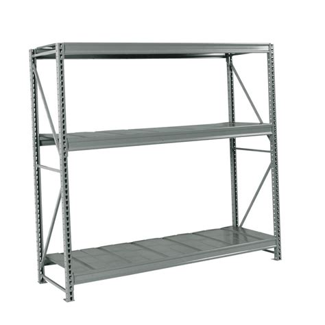 lowes metal shelves shop edsal 72 in h x 72 in w x 36 in d 3 tier steel freestanding shelving unit at lowes