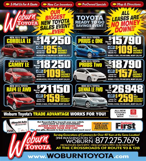 toyota dealership deals toyota dealership in ma great toyota deals woburn mass