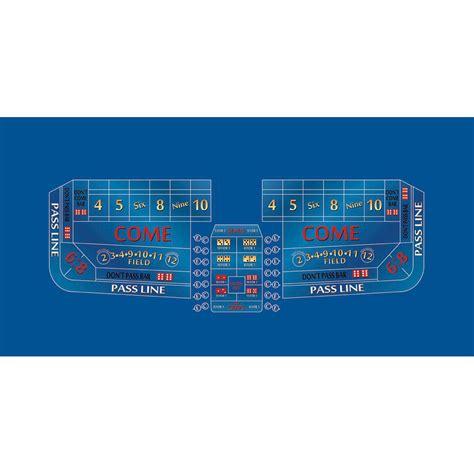 8 foot casino craps layout blue color felt