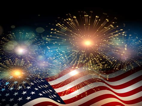 american flag fireworks independence day celebrations