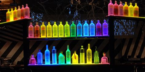 light up bar top building a liquor shelves home decorations