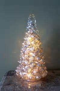 light tree l 9 quot silver mercury glass led light up tree