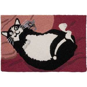 cats on rugs laughing cat belly rub rug hemingway s cat boutique