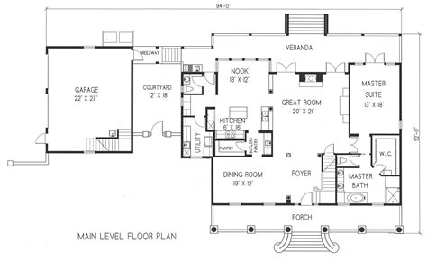 ranch house plans with detached garage plan small 6