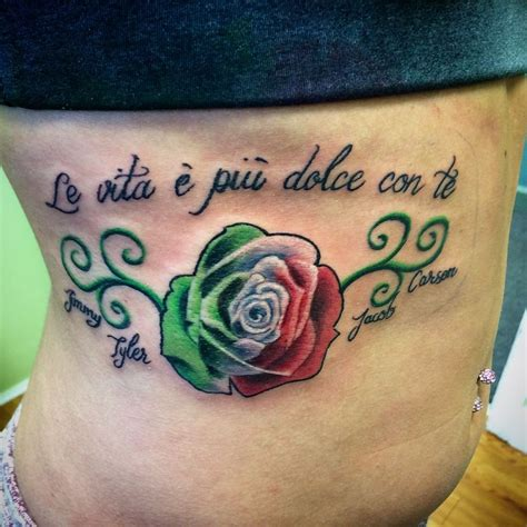 italian rose tattoo pictures of italian flag tattoos wallpaper images
