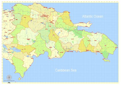 printable map dominican republic dominican republic detailed map exact g view level 12 5