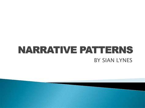 pattern of narrative writing narrative patterns