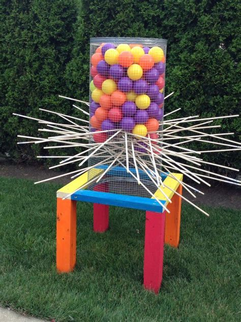 backyard kerplunk game just got done making a giant outdoor kerplunk game me