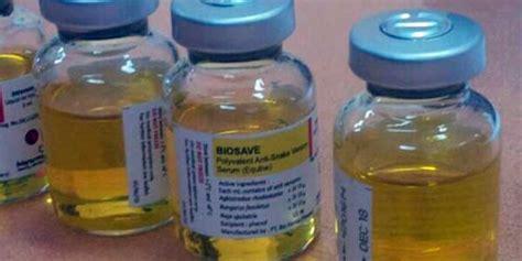 Serum Anti Bisa Ular polisi temukan 200 botol serum antitetanus palsu
