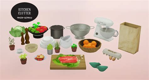 sims 4 food clutter my sims 4 blog ts2 kitchen clutter and cassandre rugs by