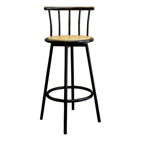 Black Parts In Stool by Home Decorators Collection Padded High Back Bar Stool In