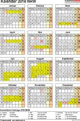 Kalender 2018 Nrw Vorlage Kalender 2018 Nrw Ferien Feiertage Excel Vorlagen
