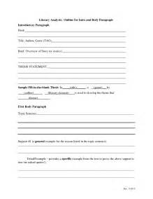 Literary Essay Template by Literary Analysis Essay Format Jianbochen