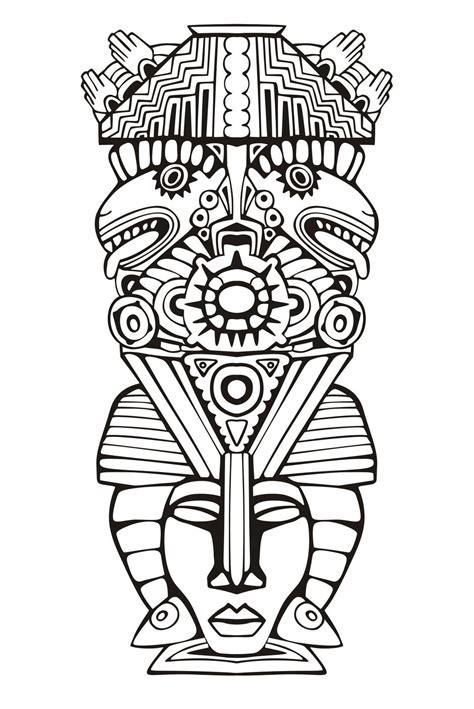 imagenes de totems aztecas totem inspiration inca maya azteque 6 coloriage de