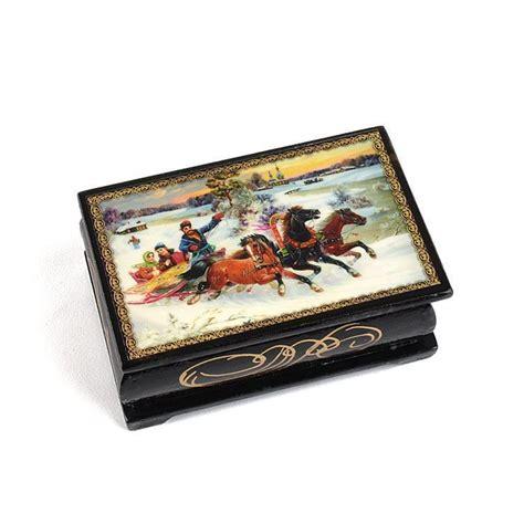 Souvenir Box by Troika Lacquer Boxes Souvenir Lacquer Box The Russian Store