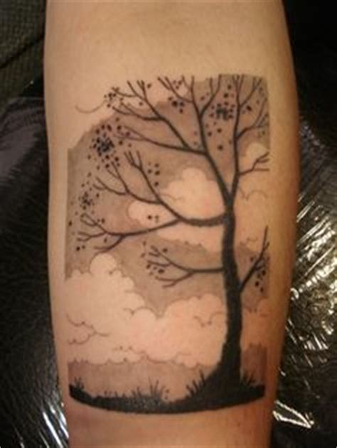 tattoo black and grey clouds tree tattoo inspiration on pinterest crab apples tree