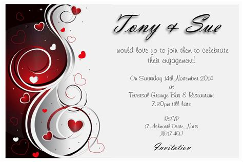 free online invite templates engagement invitation card designs free archives